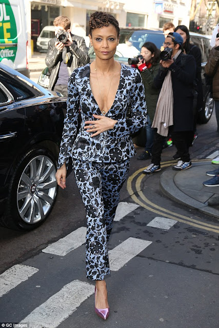 Thandie Newton Patterned Suit