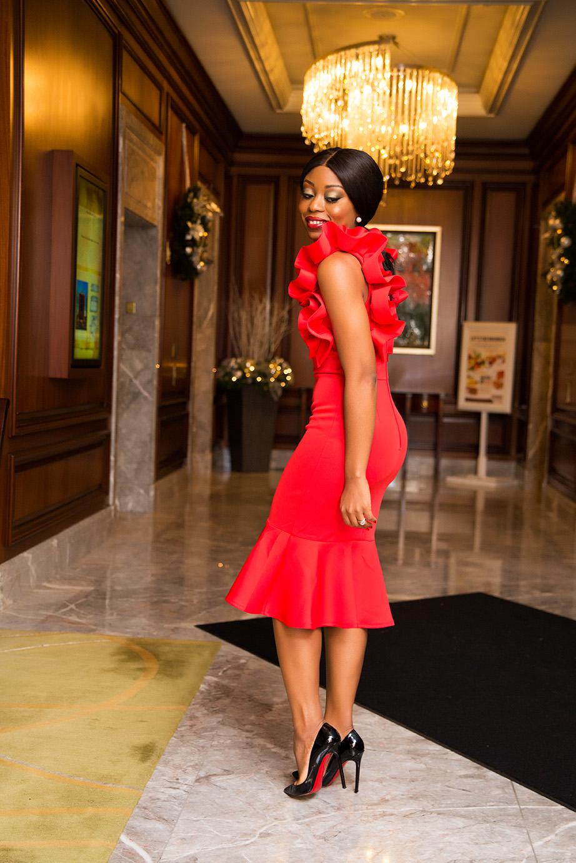 Ruffle red dress, www.jadore-fashion.com