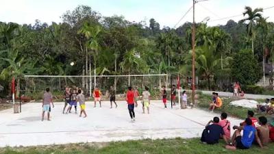 Satgas TMMD Kodim Mentawai Ajak Masyarakat Olahraga Bersama