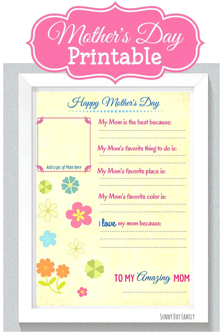 Mothers Day Worksheets Printables Topsimages