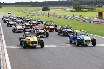 Round Five of the 2017 Caterham Academy championship at Snetterton - the start