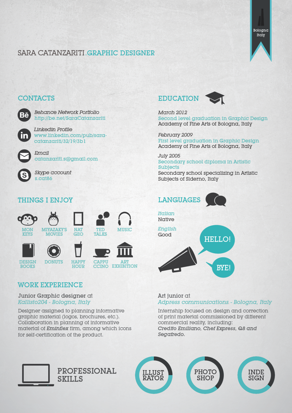 cv hobbies english