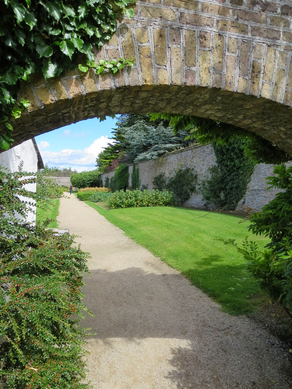 Arch inside the walled garden at Marlay Park in Dublin