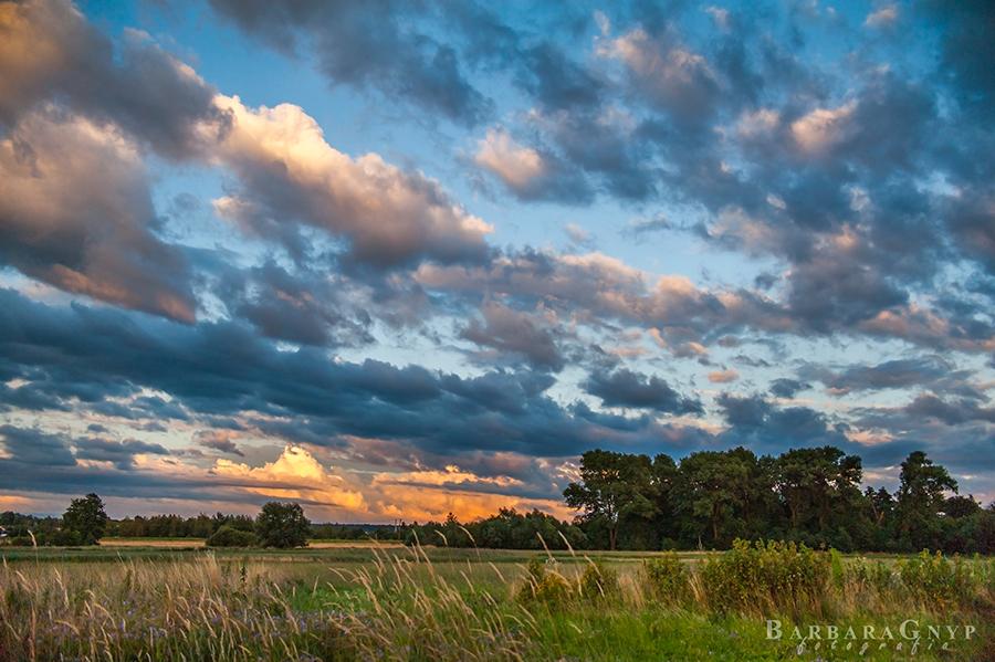 Zachód słońca 14.07.2016 r. - Niemce - Lubelskie