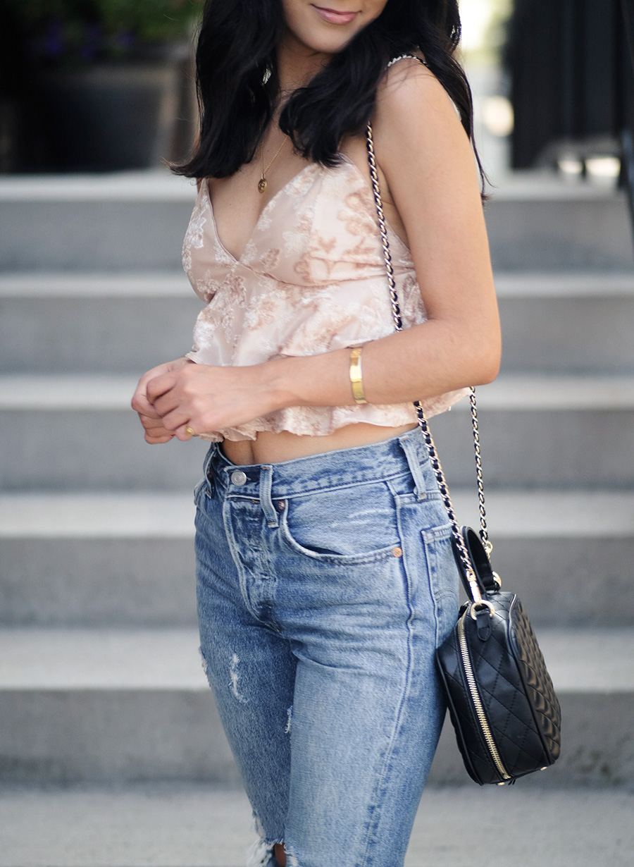 easy fall outfits, velvet cami saved by the dress