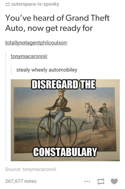 funny twist on a historic grand theft auto