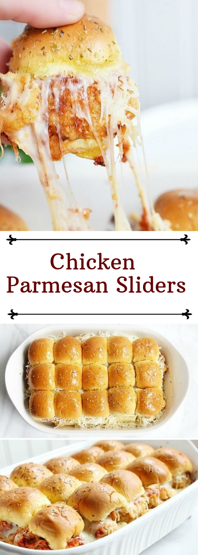 Chicken Parmesan Sliders #dinnerrecipe #food #amazingrecipe
