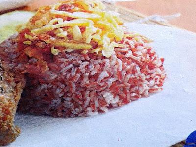 Gambar Resep Nasi Uduk Merah