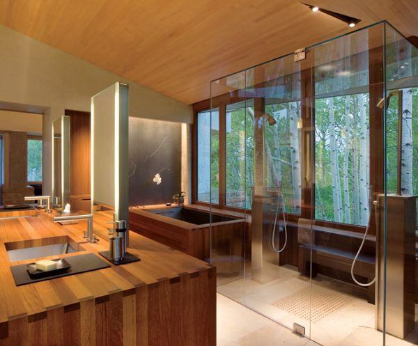 Desain Kamar Mandi Minimalis Nuansa Alam Dengan Batu Alam