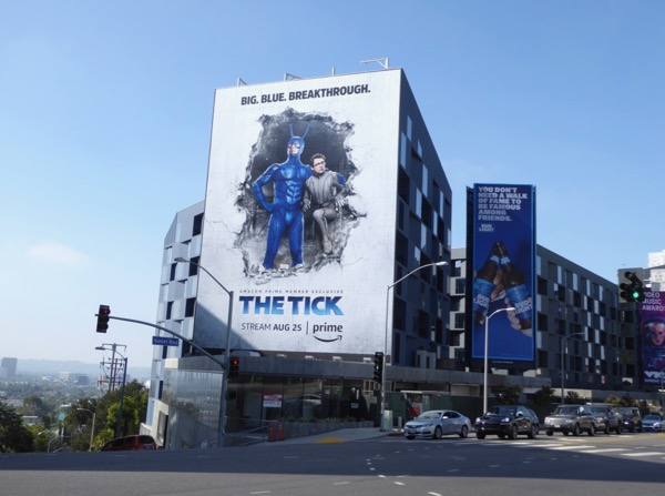 Tick Amazon series billboard Sunset Strip