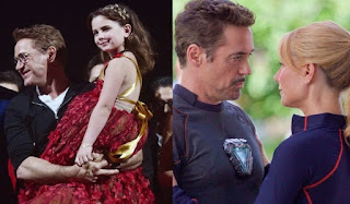 The Avengers: Endgame iron man tony stark dauther and his girlfriend