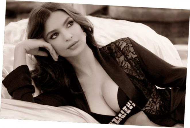 Emily Ratajkowski poses in lingerie for the Yamamay Christmas 2014 Lookbook