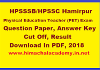 HP Police Constable Question Paper 2019, Answer Key, PDF
