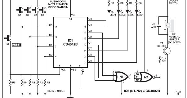 Musical Doorbell Circuit & SymbolsCaptivating Wireless ...