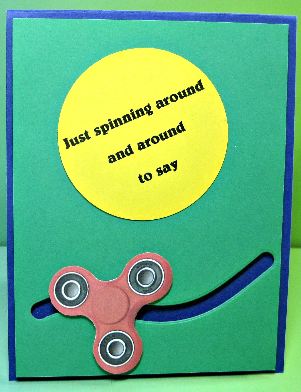 Fidget Spinner Birthday Card For My Grandson