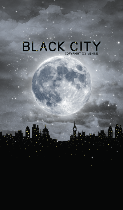 Black city at midnight