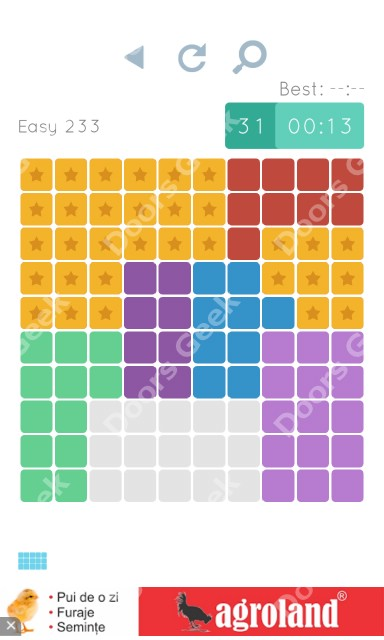 Cheats, Walkthrough for Blocks and Shapes Level 233