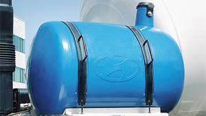 Hệ thống rửa tự động xe trộn 15 tấn hyundai