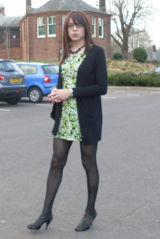 Emma Ballantyne green and black dress