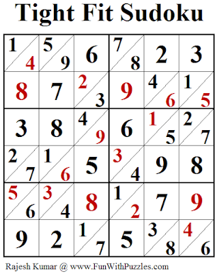 Tight Fit Sudoku (Fun With Sudoku #250) Puzzle Solution