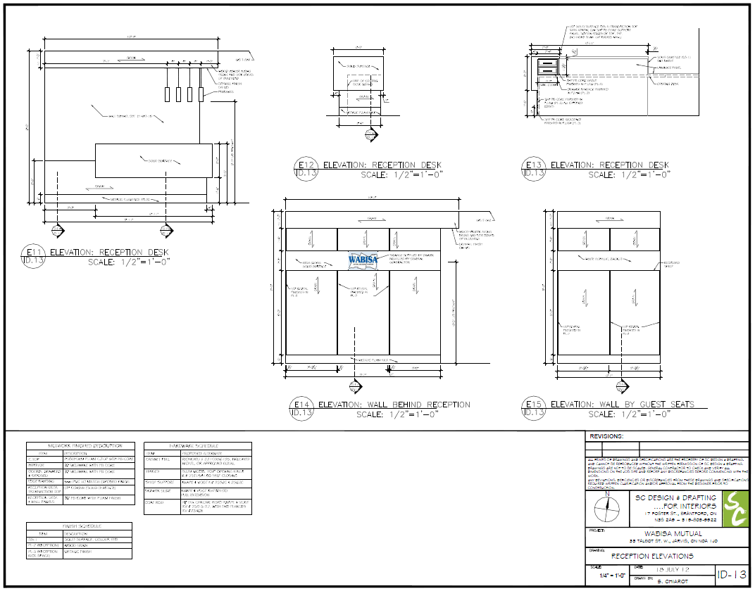 Millwork Design ~ SC Design & Drafting