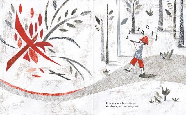 interior del cuento El Canto Errante poema de Rubén Darío ilustrado por Eleonora Arroyo