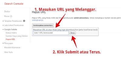 Hapus URL di Search Console Google Webmaster