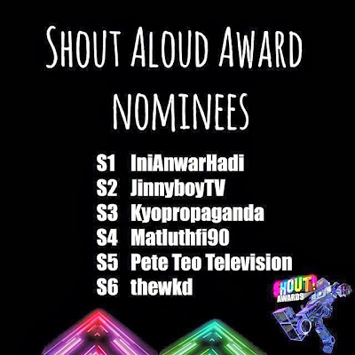 The Shout! Awards 2013 - Shout Aloud Award Nominees