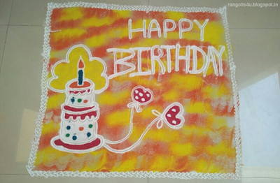 Happy BirthDay Rangolis