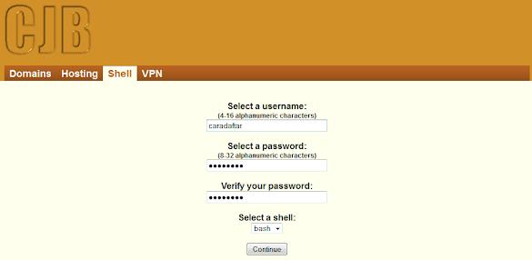 Cara Daftar Akun SSH - http://shell.cjb.net