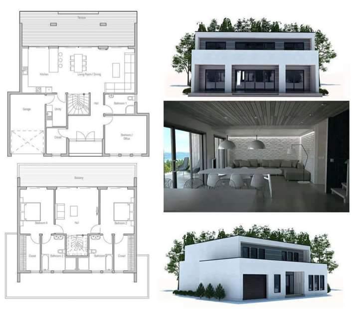 Konsep Rumah Kotak minimalis Terbaik