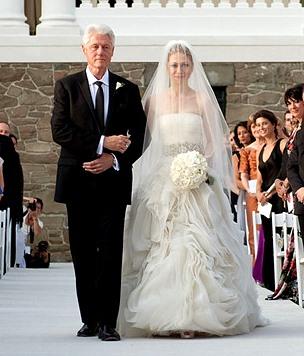 Foto de Bill Clinton en la boda de su hija