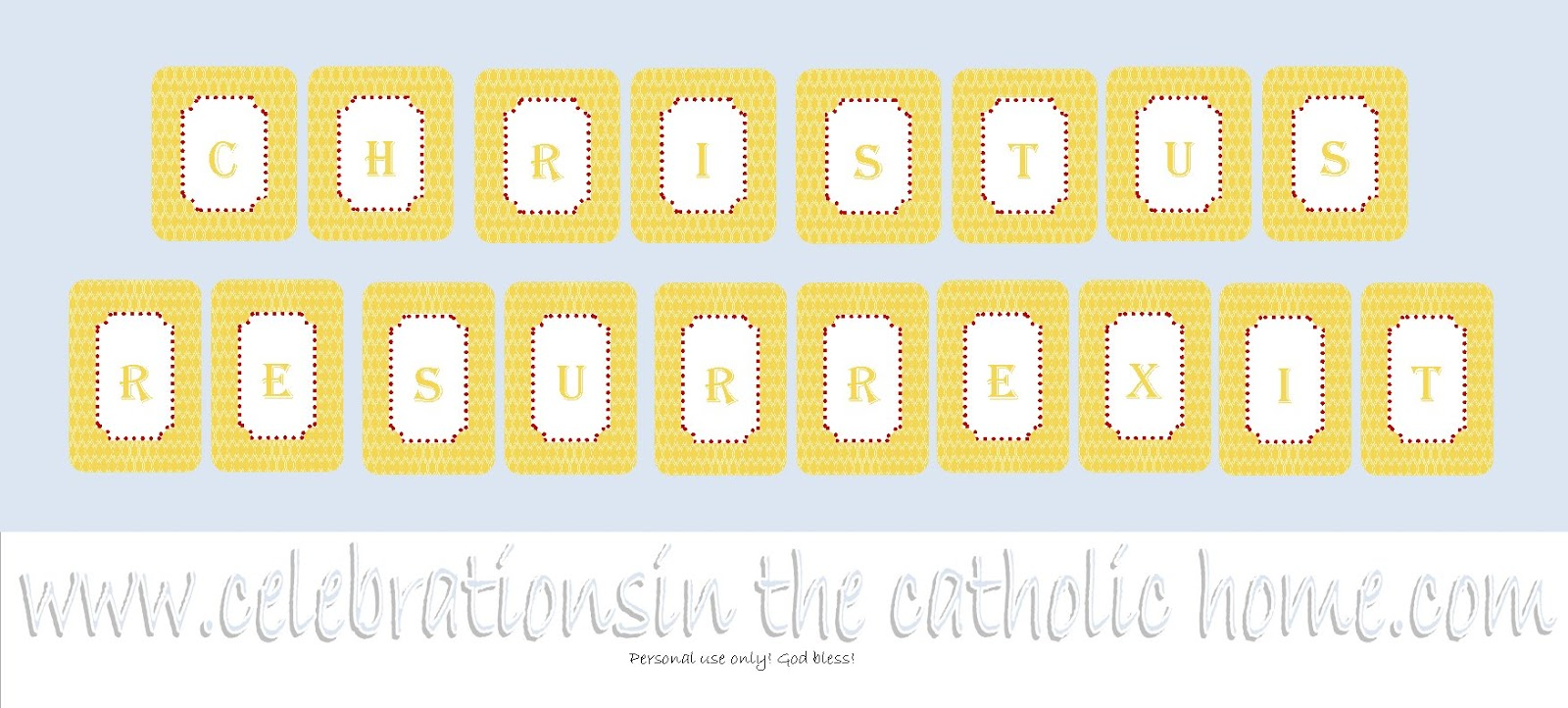 Celebrations in the Catholic Home: Free Printable ...