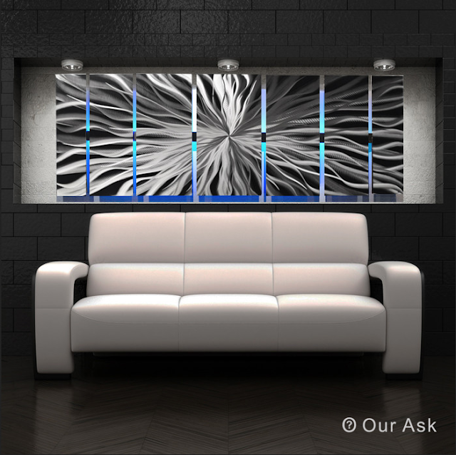 Abstract Metal Wall Art as Photo Gallary