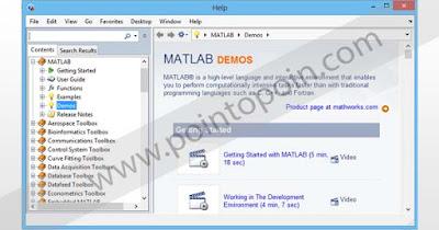 Jendela Demo pada MATLAB