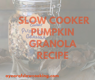 Easy and delicious! Slow Cooker pumpkin granola can be made in large batches and then kept in the fridge or freezer for months.