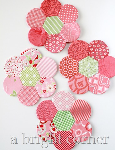 Pink Hexdens - an English Paper Piecing project