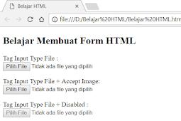 Penggunaan dan Penulisan Tag Input Type File Dalam Form HTML