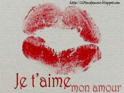 Mots d'amour je t'adore ma chérie
