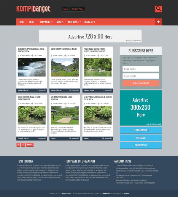 Kompi Banget - Template Blogger Valid HTML5 Dan CSS3