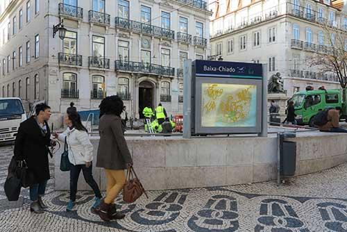 Baixa-Chiado Metro Station Lisbon, Portugal.