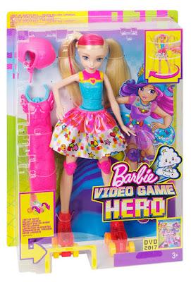 JUGUETES - BARBIE Superheroína del videojuego  Muñeca Patinadora | Patines Luminosos  PELICULA 2017 | Mattel | A partir de 3 años  Comprar en Amazon España