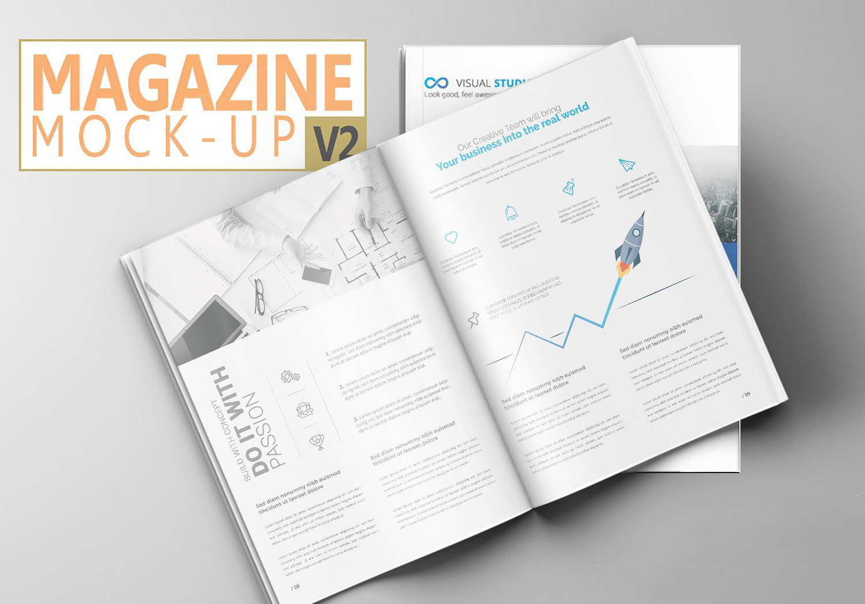 Print Magazine Mockup Set
