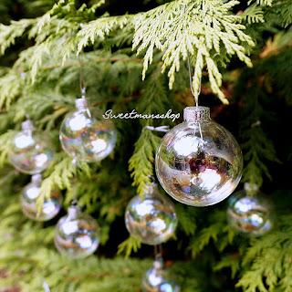 12 palline in vetro iridescenti per decorare l'albero di Natale