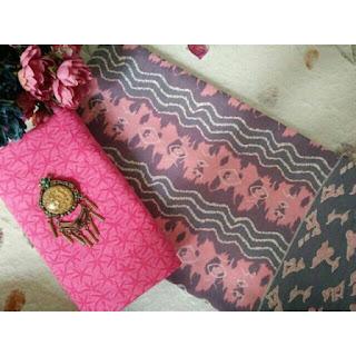 Kain Batik dan Embos 156 Pekalongan motif Mega Mendung Pink