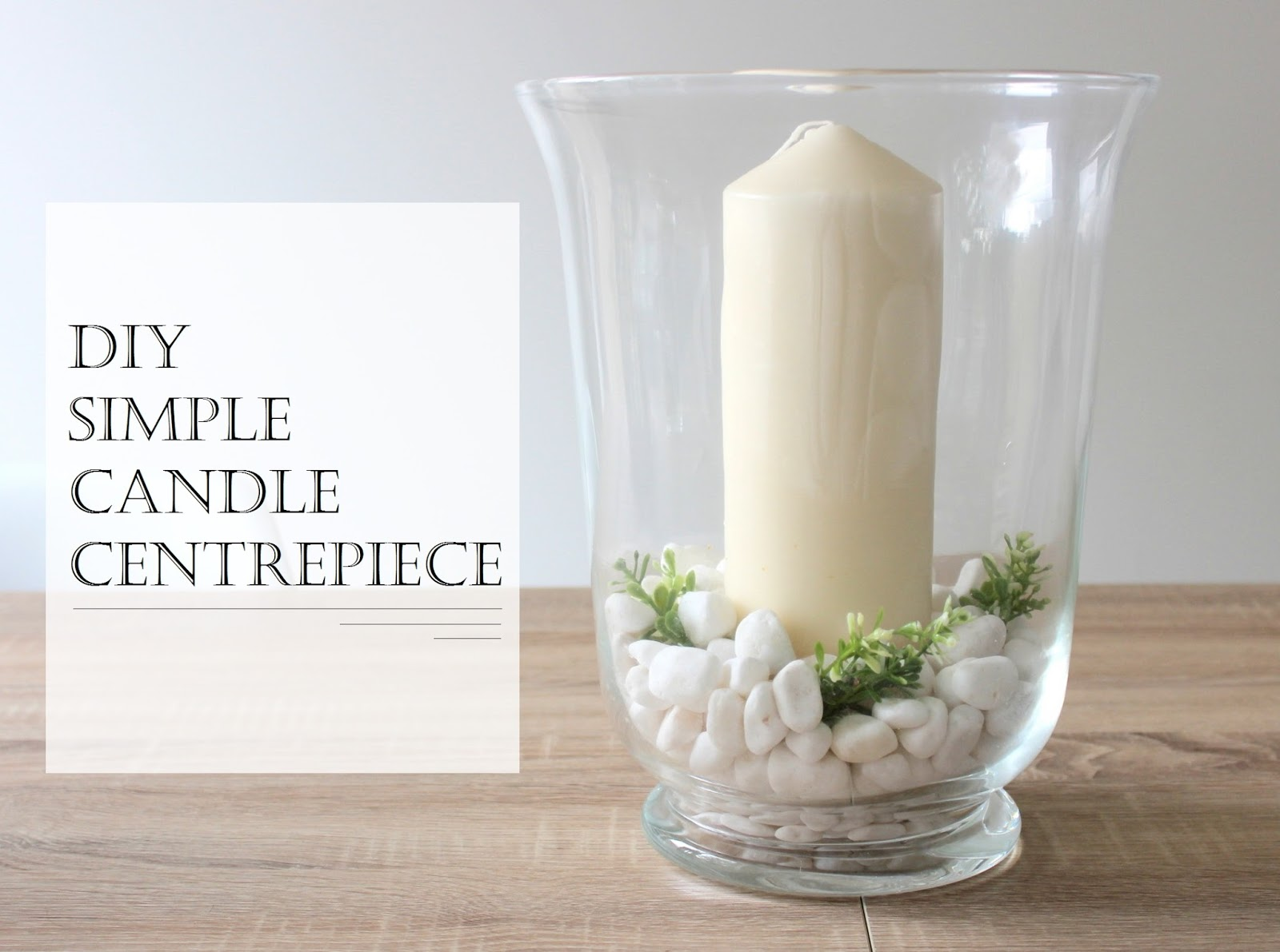 DIY centerpiece candles stones in vase