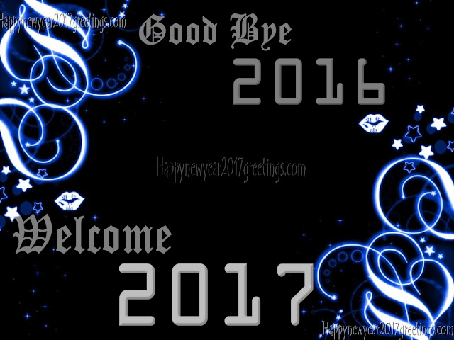Welcome Happy New Year 2017 Photo Wishes Greeting