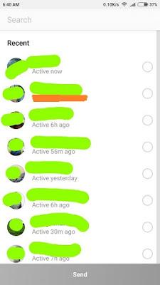 Trik Melihat Teman yang Sedang Online Instagram 5