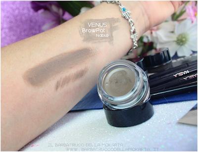 venus swatches review brow pot nabla eyebrow