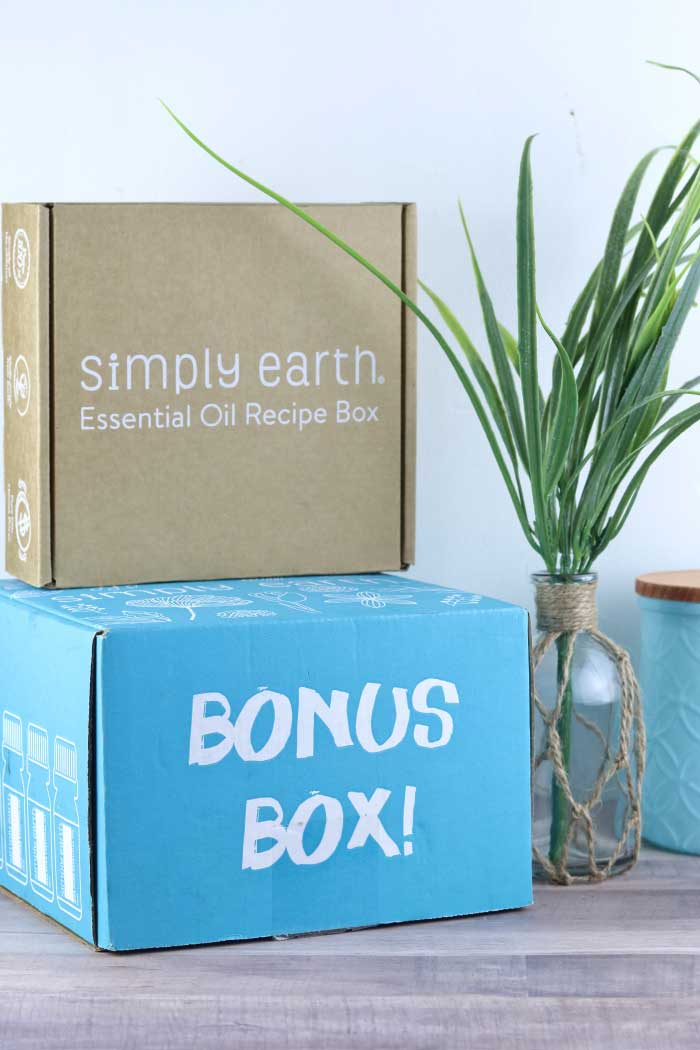 Learn about the Simply Earth monthly essential oils recipe box and get three natural cleaners recipes.  Make your own natural cleaning products with the ingredients for this box.  The box has pure essential oils to make DIY cleaning products and DIY bath and body recipes with the best brand of essential oils from Simply Earth.  Click through for recipes for a natural all purpose cleaner, fresh home diffuser blend, and laundry stain roller bottle blend.  #essentialoils #simplyearth #diynatural #natural #diy #cleaning